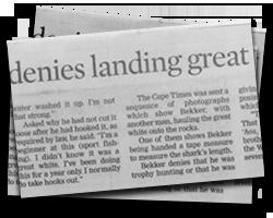George shark man denies landing great white