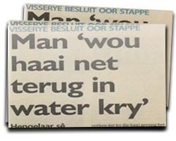 Man 'wou haai net terug in water kry'
